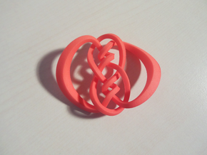 Knot 10₁₂₀ (Square) in Red Processed Versatile Plastic: Large