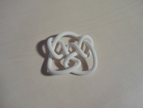 Knot 8₁₅ (Circle) in White Natural Versatile Plastic: Large