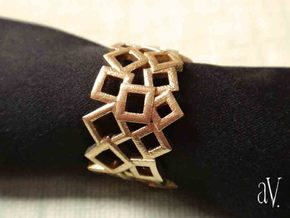 Scatter Squares Ring in Natural Brass: 8 / 56.75