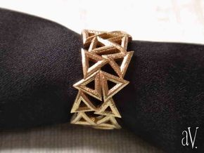 Scatter Triangle Ring in Natural Brass: 8 / 56.75