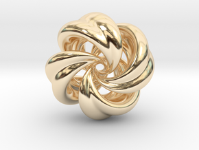 Integrable Flow (5, 4) in 14k Gold Plated Brass