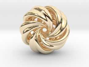 Integrable Flow (7, 5) in 14k Gold Plated Brass