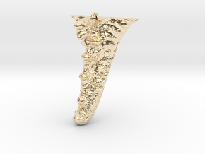 Knobby Starfish Leg Pendant in 14k Gold Plated Brass