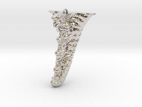 Knobby Starfish Leg Pendant in Rhodium Plated Brass