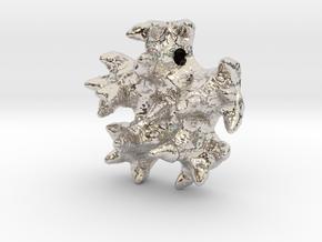 Knobby Starfish Center Pendant in Rhodium Plated Brass