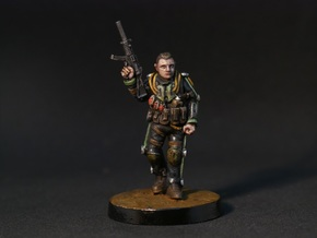 Exo-Suit Commander (28mm) in Smooth Fine Detail Plastic