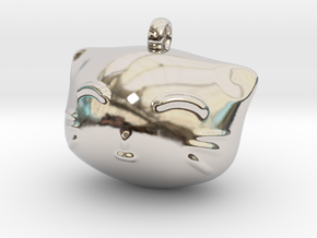 Cat4 in Rhodium Plated Brass: Small