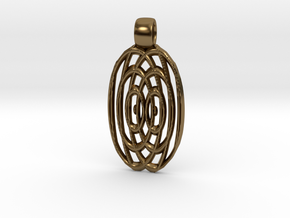 Waves  [pendant] in Polished Bronze