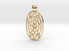 Waves  [pendant] in 14k Gold Plated Brass