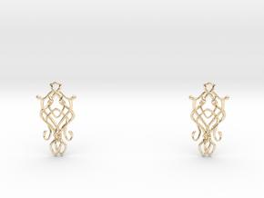 Art Nouveau Earrings in 14k Gold Plated Brass