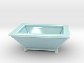 Vesper Planter, Rectangular in Gloss Celadon Green Porcelain