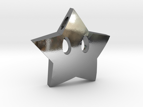 Mario's star  [pendant] in Polished Silver