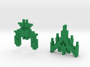 Galaga (set of 2) in Green Processed Versatile Plastic