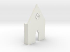 shkr016 - Teil 16 Front hoch lang Fenster zierlich in White Natural Versatile Plastic