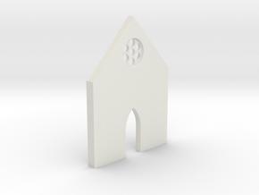 shkr006 - Teil 6 Front niedrig kurz Fenster in White Natural Versatile Plastic