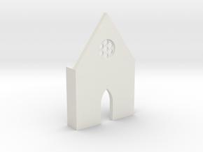 shkr009 - Teil 9 Front hoch lang Fenster in White Natural Versatile Plastic