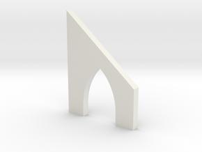 shkr038 - Teil 38 Stützmauerbogen außen breit mit  in White Natural Versatile Plastic