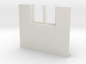 shkr041 - Teil 41 Seitenwand mit Fenster1-2 abgebr in White Natural Versatile Plastic