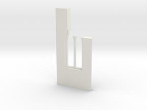 shkr043 - Teil 43 Seitenwand mit Fenster1-3 abgebr in White Natural Versatile Plastic