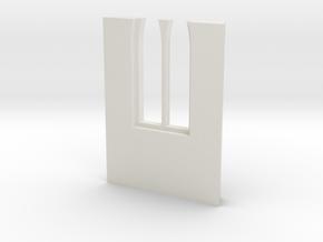 shkr044 - Teil 44 Seitenwand mit Fenster1-3 abgebr in White Natural Versatile Plastic