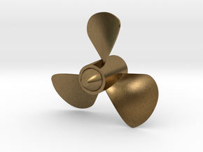 40mm Dia. 3 Bladed ship Propeller (CCW Rotation) in Natural Bronze