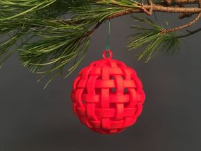 2016: Woven Sphere in Red Strong & Flexible Polished