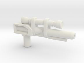 Dinobot Slash's Rifle  (PotP) in White Premium Versatile Plastic: Small