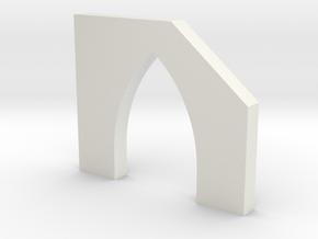 shkr055 - Teil 55 Stützmauerpfeiler mit Durchgang  in White Natural Versatile Plastic