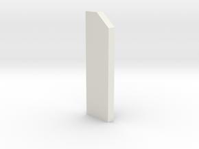shkr051 - Teil 51 Stützmauerpfeiler 1-2 Höhe in White Natural Versatile Plastic