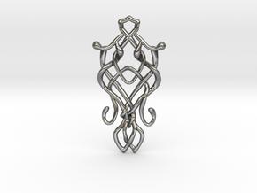 Art Nouveau Pendant in Polished Silver