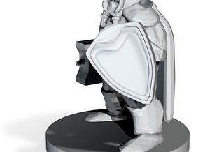 Dwarf Fighter - Hammer & Shield in White Strong & Flexible