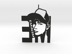 Eminem Pendant - 3D Jewelery - Eminem Fan Pendant in Black Natural Versatile Plastic