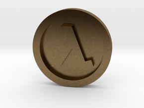 Half Life ® Token: Classic in Natural Bronze