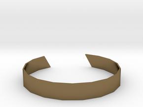Triangle Facet Bracelet Sizes XS-XL in Polished Bronze: Extra Large