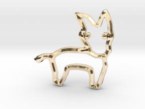 Democrat's Donkey Symbol in 14K Yellow Gold
