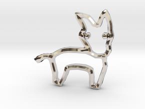 Democrat's Donkey Symbol in Platinum