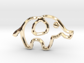 Republican's Elephant Symbol in 14K Yellow Gold