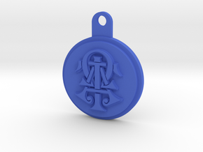 ATO Keychain in Blue Strong & Flexible Polished