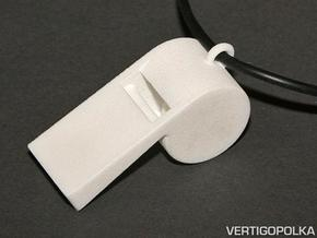 Whistle Pendant large in White Natural Versatile Plastic