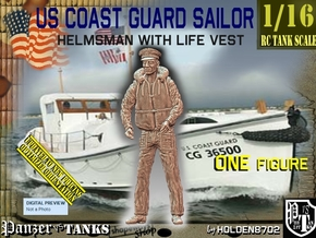 1/16 USCG Helmsman 1 in White Natural Versatile Plastic
