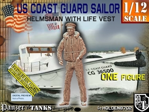 1/12 USCG Helmsman 1 in White Natural Versatile Plastic