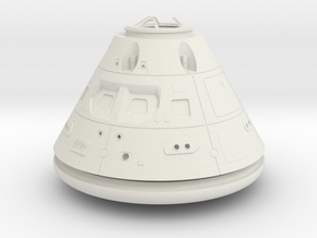 Orion Crew Module (CM) No Tiles 1:24 in White Natural Versatile Plastic