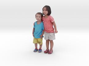 Scanned Children 10CM High in Full Color Sandstone