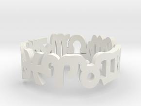 Zodiac Ring Fat in White Natural Versatile Plastic: 6 / 51.5