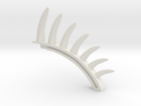 Elasticity spine in White Natural Versatile Plastic