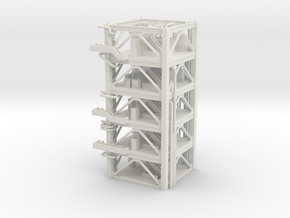 1/400 NASA LUT levels 8-12 (Launch Umbilical Tower in White Natural Versatile Plastic