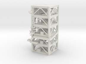 1/400 NASA LUT levels 13-18 Launch Umbilical Tower in White Natural Versatile Plastic