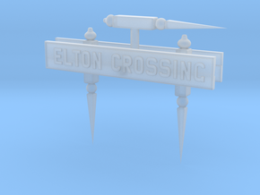 EL41B Nameboard and Finials in Smooth Fine Detail Plastic