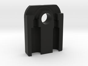 Lightning to Headphone 3.5mm jack adapter keychain in Black Premium Versatile Plastic