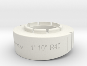 pie cut 1inch 10deg R40 in White Natural Versatile Plastic